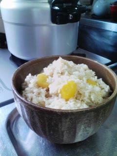圧力鍋で炊飯