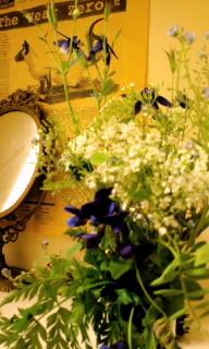 花のある玄関